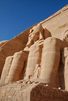 Free Colossal Statues Of Rameses II, Abu Simbel, Egypt Stock Photos - 5746573
