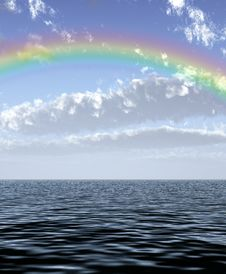Beautiful Rainbow Royalty Free Stock Photography