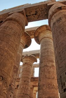 Free Stone Carvings At The Great Hypostyle Hall, Karnak Royalty Free Stock Photos - 5746758