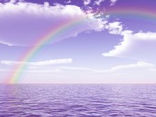 Beautiful Rainbow Stock Image