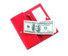 Free Open Purse Feminine Red With Money 4 Stock Photo - 5747280
