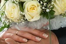 Free Wedding Bouquet At Hands Stock Photography - 5747842