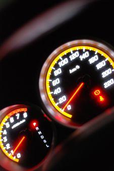 Free Illuminating Speedometer Stock Photo - 5749060
