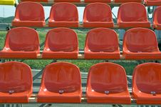 Red Seats. Royalty Free Stock Photography