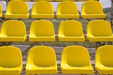Free Yellow Seats. Royalty Free Stock Image - 5749136