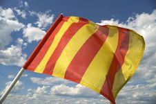 Free The Orange Striped Flag Is Yellow. Stock Photography - 5749152