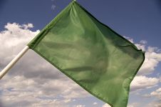 Free Green Flag. Stock Photos - 5749153
