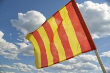 Free The Orange Striped Flag Is Yellow. Royalty Free Stock Photo - 5749155