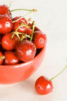 Free Fresh Cherry In Bowl Stock Photo - 5749240