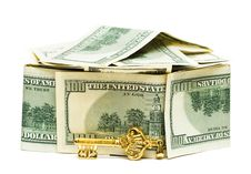Free Money With Golden Key Royalty Free Stock Photo - 5749825