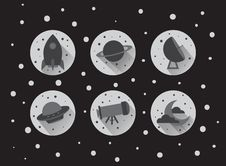 Free Flat Space Icons Stock Photos - 57416883