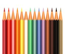 Free Color Pencils In Line Stock Photos - 57457953