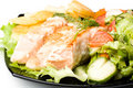 Free Stake From A Salmon With Vegetables Royalty Free Stock Images - 5758679