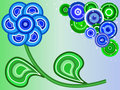 Free Blue Flower And Blue And Green Circles Royalty Free Stock Image - 5758766