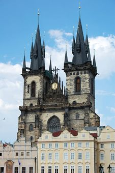 Free Two Towers In Prague Stock Image - 5750031