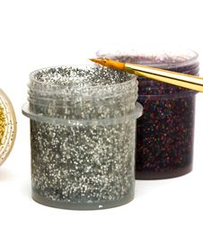 Free Paint Jar With Gouache Royalty Free Stock Photo - 5750065