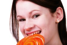 Free Lollypop Girl Royalty Free Stock Image - 5750226