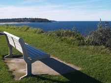 Free Bench With Ocean-view Stock Photos - 5750353