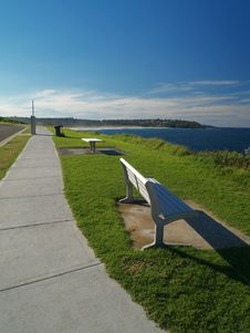 Free Bench With Ocean-view Stock Image - 5750381