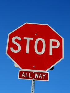 Free Stop Sign Royalty Free Stock Image - 5750456