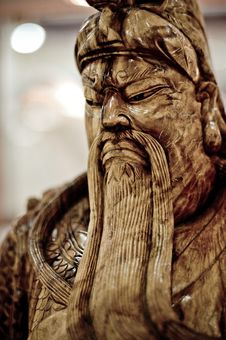 Free Chinese Wooden Statue Stock Photo - 5750670
