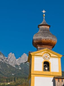 Free Small Church In The Alps Royalty Free Stock Image - 5750996