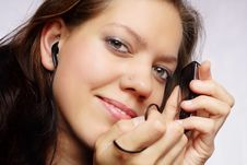 Free Woman With Mp 3 Stock Photo - 5751030