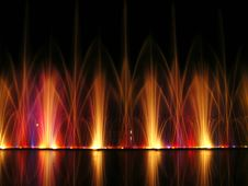 Fountains Of Colours Stock Photography
