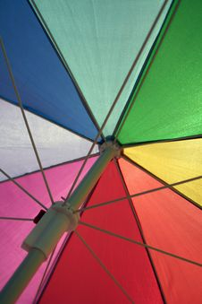 Free Vertical, A Colorful Umbrella Royalty Free Stock Photography - 5752757