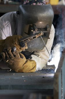 Free Weld At Work Royalty Free Stock Photo - 5752985