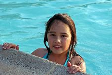Free Smiling Girl In Swimming Pool Stock Photos - 5753233