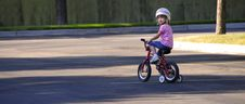 Free Little Girl Riding A Bike Royalty Free Stock Photos - 5753268