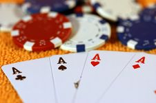 Free Cards And Chips To Play. Royalty Free Stock Photo - 5753855