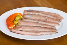 Free Herring On A Plate Stock Photos - 5754803