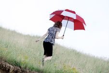 Free Umbrella Girl Royalty Free Stock Photos - 5755028