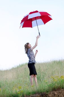 Free Umbrella Girl Stock Image - 5755061