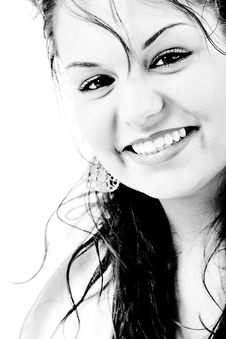 Free Contrast Smile Royalty Free Stock Photos - 5755388