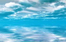 Free Sea Sky Royalty Free Stock Photography - 5755917