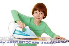 Free Children Iron Linen Royalty Free Stock Photo - 5755925