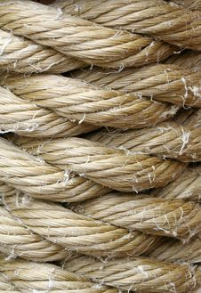 Free Wound Up Rope Macro Background Royalty Free Stock Image - 5756056