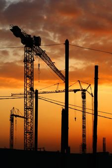 Free Tower Crane Stock Photography - 5756402
