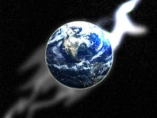 Free The Earth In Space 2 Royalty Free Stock Image - 5756466