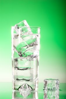 Free Tall Iced Drink On Green Stock Photography - 5756472