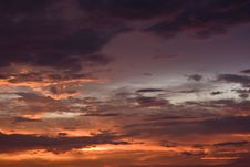 Free Red Dusk With Dark Clouds In Kuala Lumpur Stock Images - 5757064