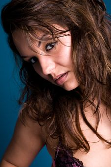 Free Brunette With Long Hair Stock Photography - 5757492