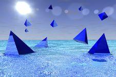 Free Water Pyramids Royalty Free Stock Photo - 5757835