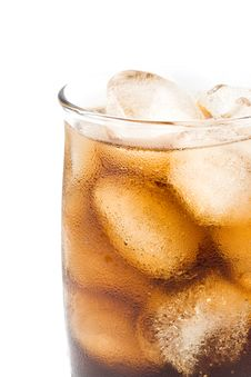 Free Cold Fizzy Cola With Ice Stock Images - 5758424