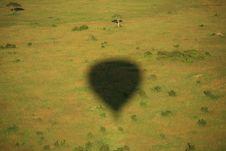 Shadow Of A Hot Air Balloon Royalty Free Stock Photo