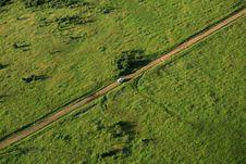 Free Van Travelling Across The Masai Mara Royalty Free Stock Photo - 5758545