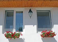 Rural Modern Windows Stock Photography